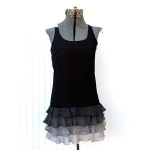 Ted Baker Black Ombre Ruffled Dress Size 1/XSmall